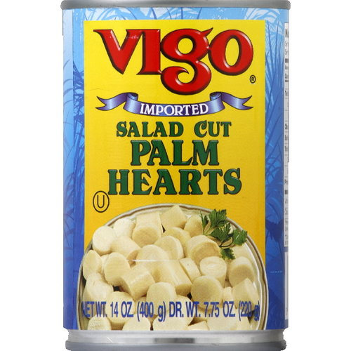 Vigo Salad Cut Palm Hearts, 14 oz (Pack of 12)