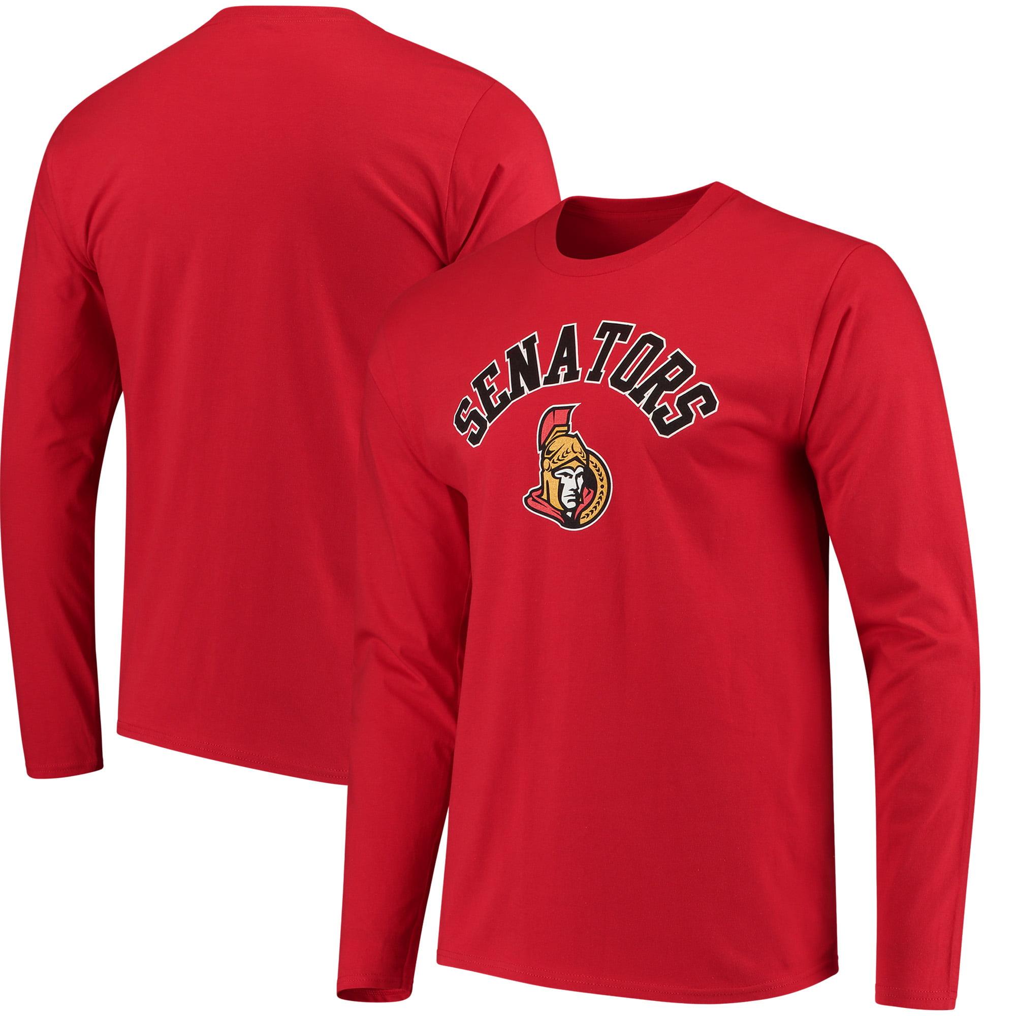Ottawa Senators Fanatics Branded Door Arch Long Sleeve T-Shirt - Red