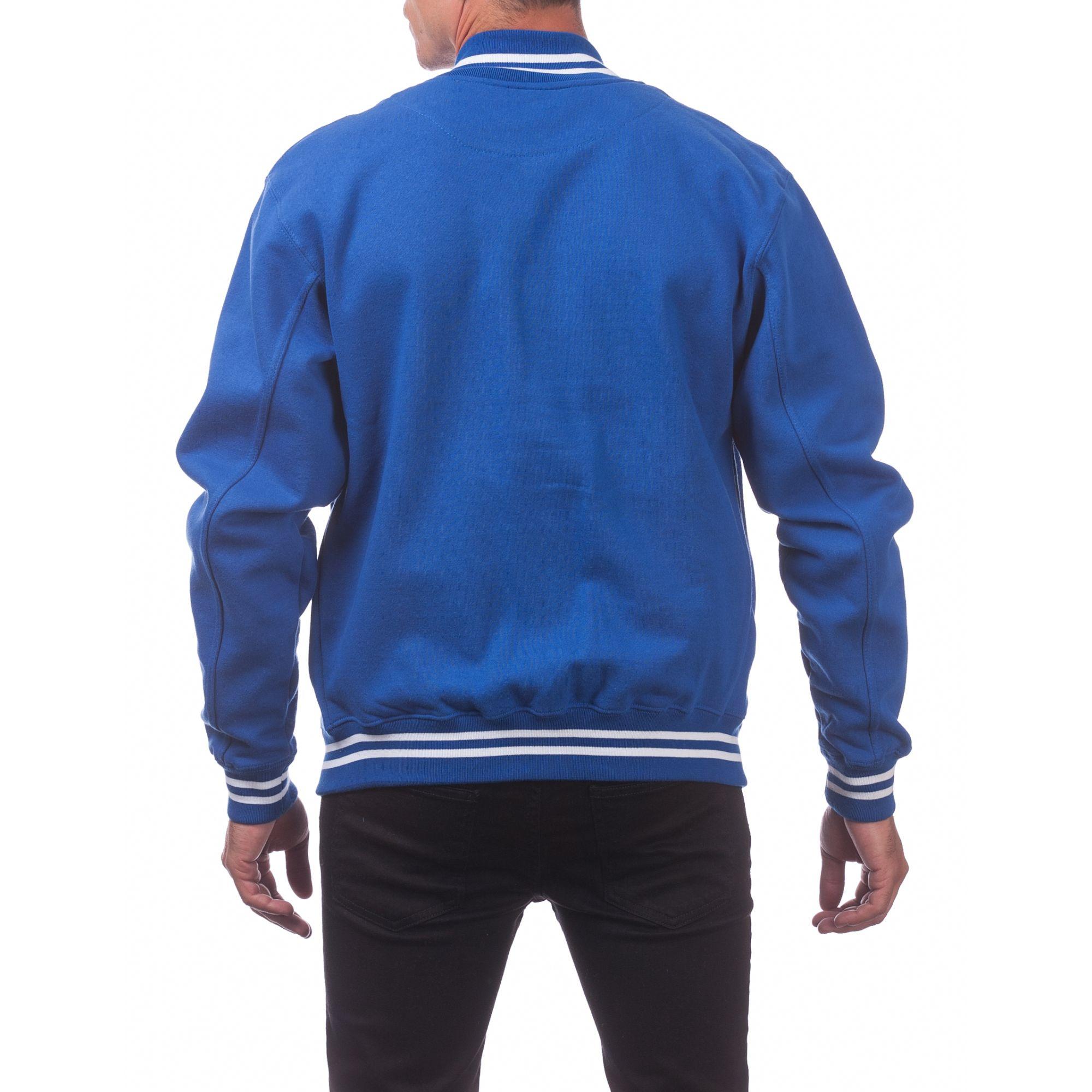 Black//Charcoal 5X-Large Pro Club Mens Varsity Fleece Baseball Jacket