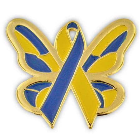 - Down Syndrome Awareness Ribbon Butterfly Enamel Lapel Pin