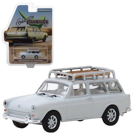Estate Wagons 1968 Volkswagen Type 3 Squareback Greenlight 1:64 Scale