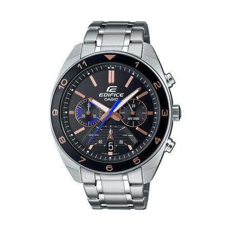 Casio Men's Edifice Chronograph Watch, Black Dial