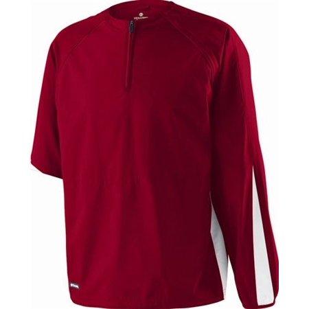 """Mens Holloway """"Conversion"""" LS Pullover Shirt Jacket Athletic Team Coach Warmup"""