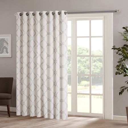 Rayon Curtain - Home Essence Sereno Fretwork Print Patio Window Panel