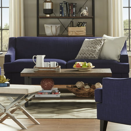 Outstanding Weston Home Reagan Linen Sofa With Modern Swooping Arms Home Interior And Landscaping Ologienasavecom