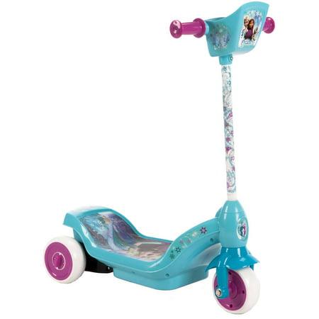 Huffy Disney Frozen 6V Dual Power 3-Wheel Scooter