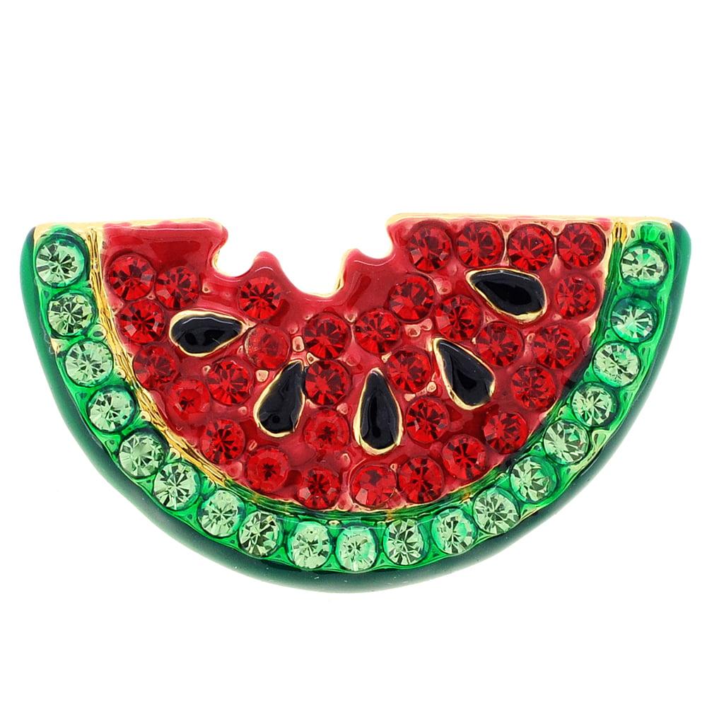 Red Watermelon Swarovski Crystal Pin Brooch by