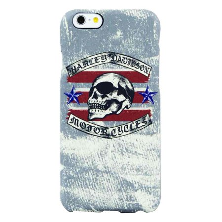 Harley-Davidson Men's iPhone 6 Phone Shell, Distressed Americana Skull, 8302, Harley