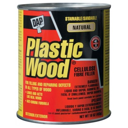 Dap 21506 16 oz. Natural Plastic Wood® Solvent Professional Wood Filler