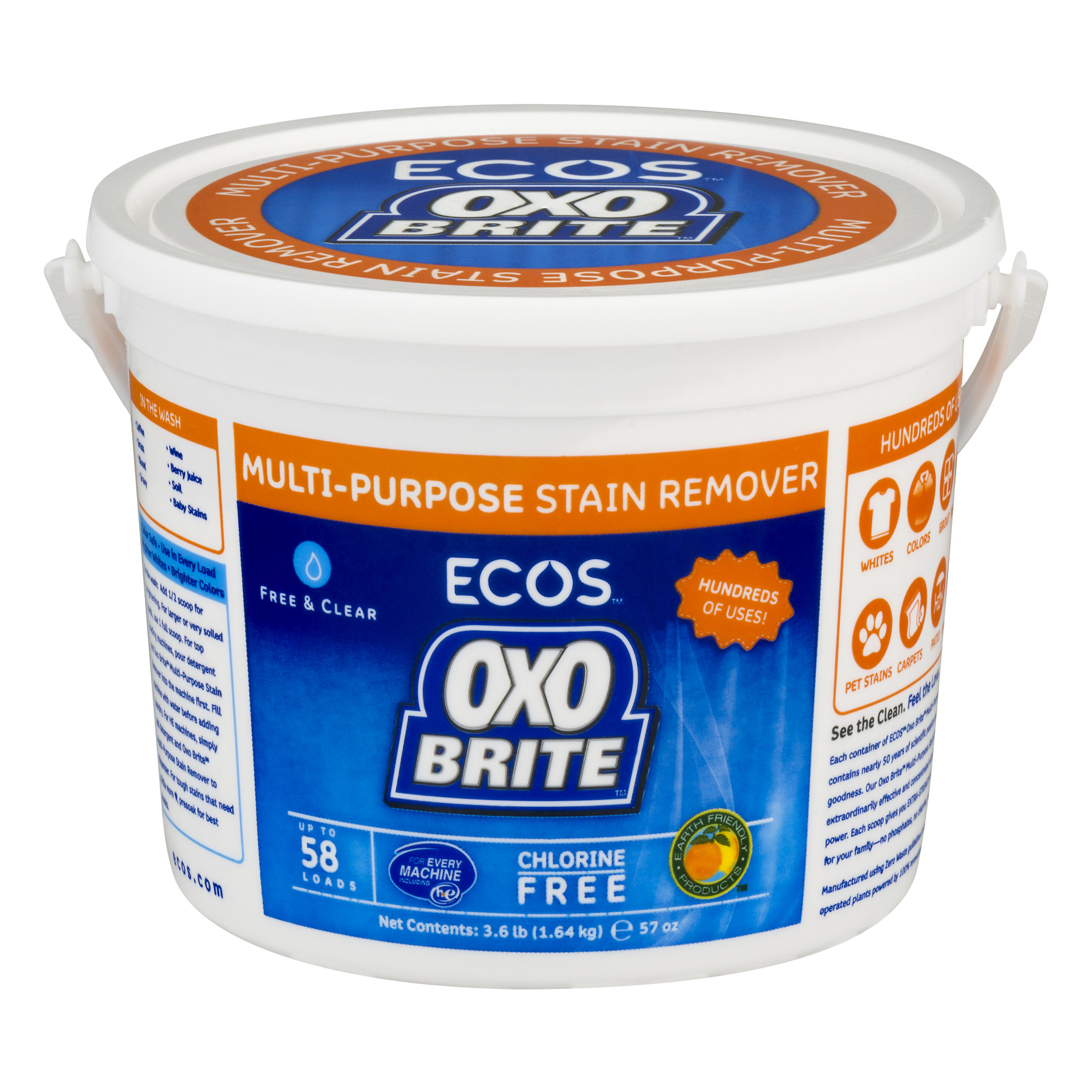Ecos OXO Brite Multi-Purpose Stain Remover Free & Clear, 57.0 OZ