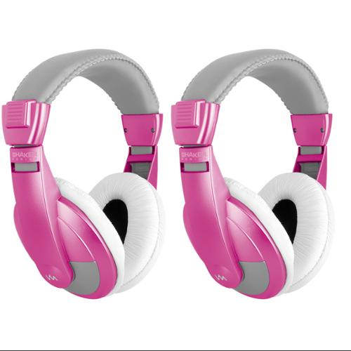 2)  VM Audio SRHP15 Stereo MP3/iPhone iPod Over the Ear DJ Headphones - Pink