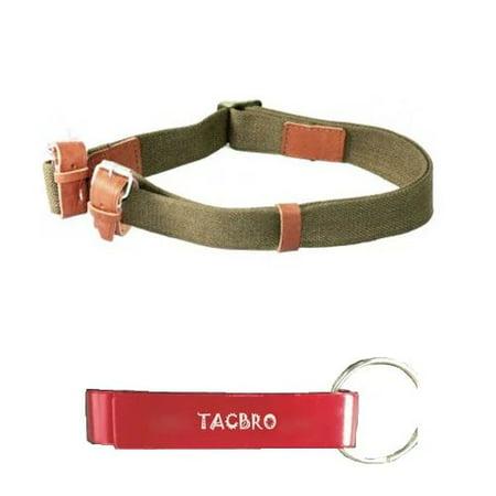TACBRO MOSIN NAGANT RIFLE SLING with One Free TACBRO Aluminum Opener(Randomly Selected Color)