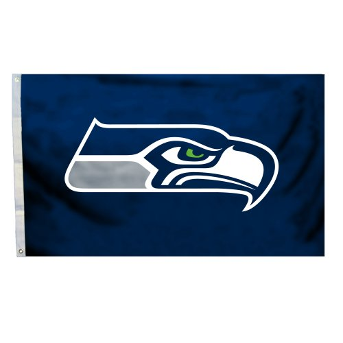 NFL Seattle Seahawks Logo Only 3-by-5 Feet Flag with Grommetts