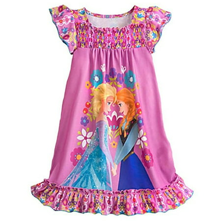 Disney Frozen Ann & Elsa Girls' Nightshirt, Nightgown - FREE SHIPPING (Elsa Frozen Gown)