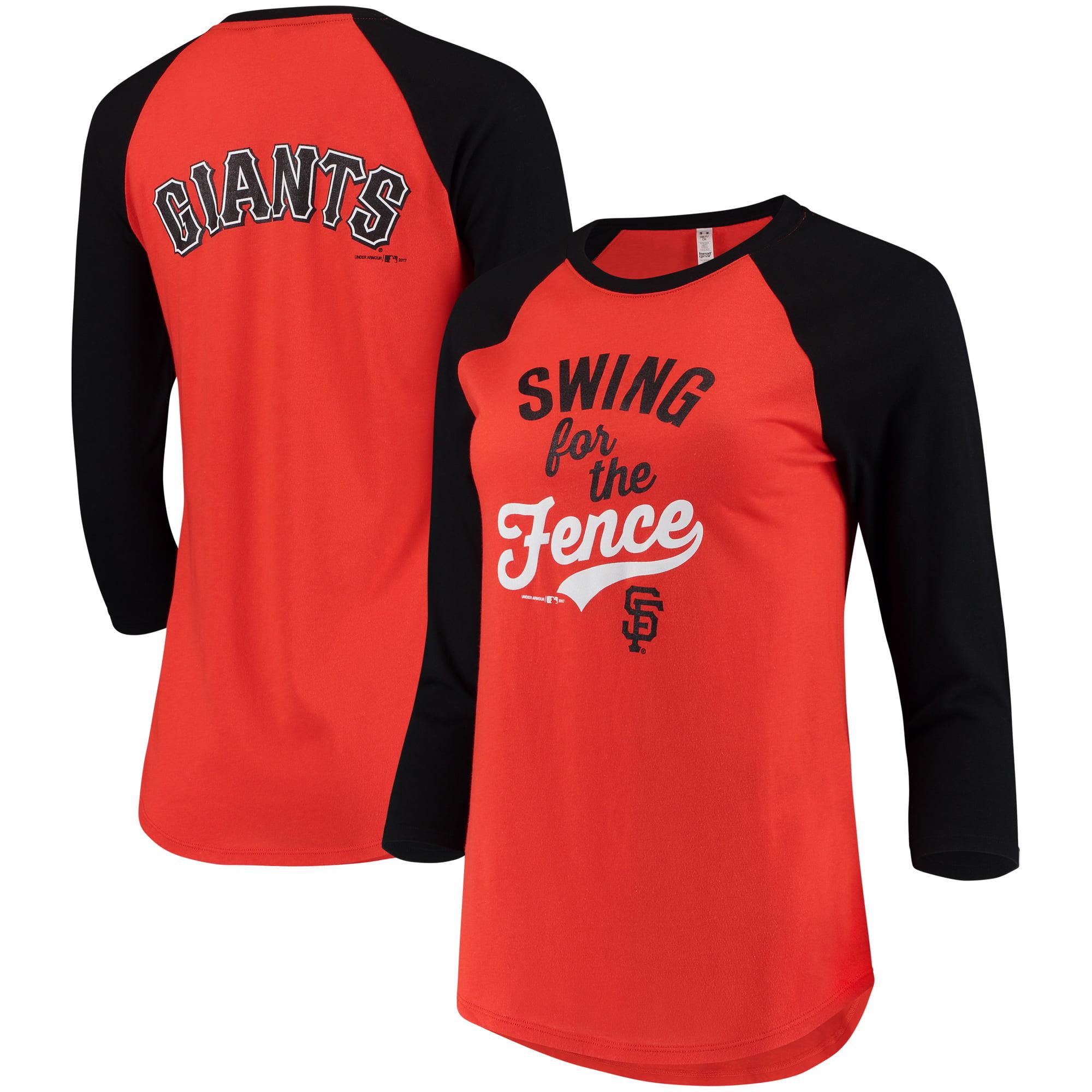 San Francisco Giants Under Armour Women's Baseball 3/4-Sleeve T-Shirt - Orange