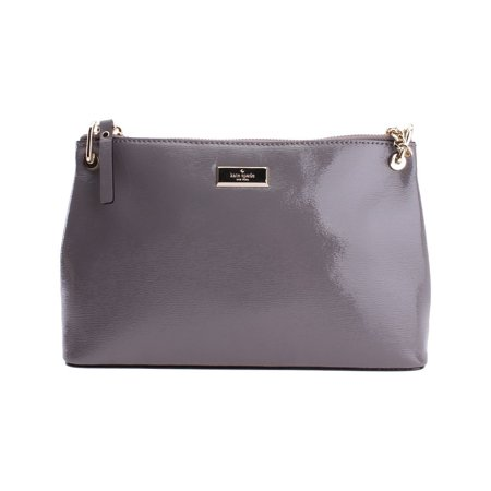 0b529c5631ea New Kate Spade River Bixby Place Gray Chain Leather Crossbody Bag