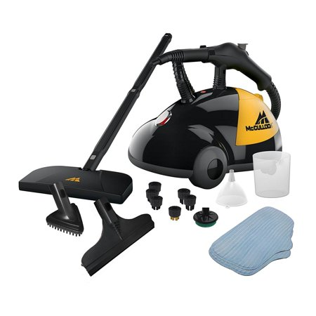 McCulloch Heavy Duty Deep Clean Handheld Canister Steam Cleaner + 18 Accessories Pressure Hand Steam Cleaner