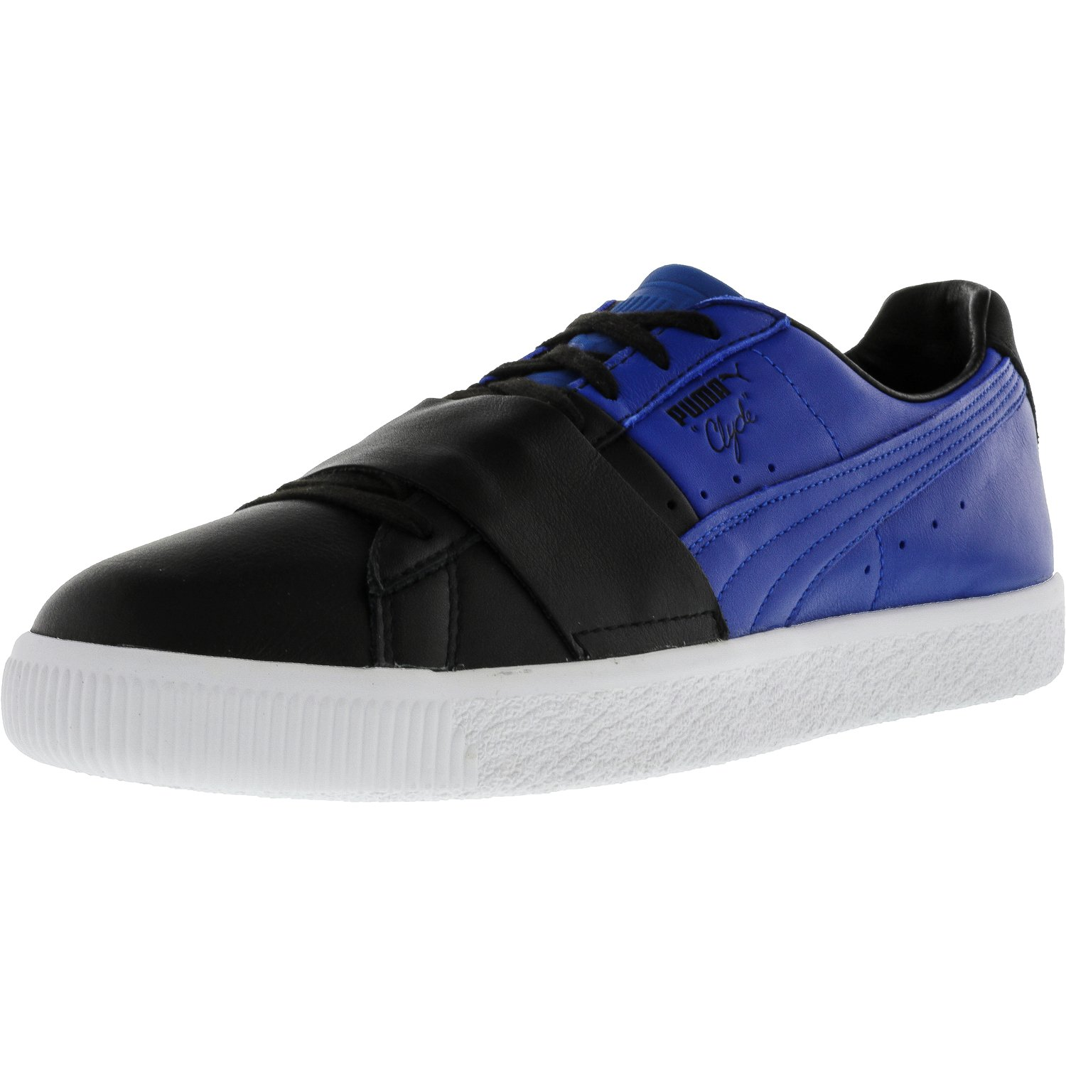 PUMA Men's Clyde Color Block 1 Black/Lapis Blue Athletic Shoe VcdnDol2