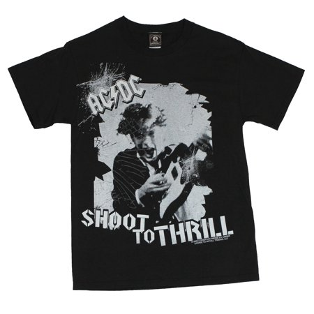 AC/DC Mens T-Shirt  - Shoot to Thrill [Apparel] (Ac Dc Shoot To Thrill River Plate)