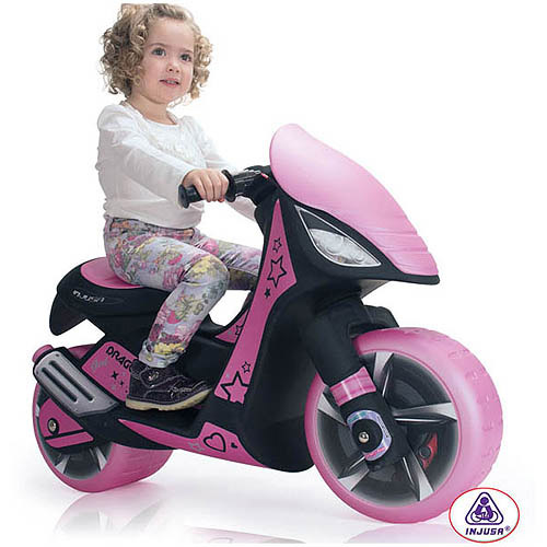 Injusa Dragon 6V Scooter, Pink