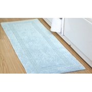 Addy Home 100% Cotton Loop Textured Reversible Bath Rug - BLUE (24 in x 60 in)