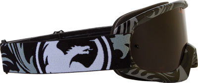 NEW DRAGON MDX GOGGLE VOX BLACK-WHITE W//IONIZED LENS Motorcycle 722-1484 #81