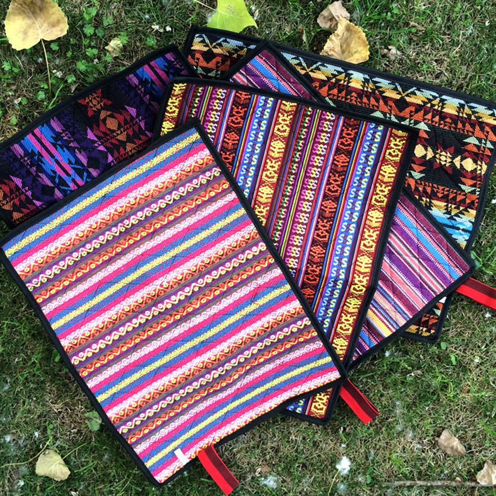 Directer Portable Boho Geometric Hiking Outdoor Folding Mat Camping Waterproof Seat Pad