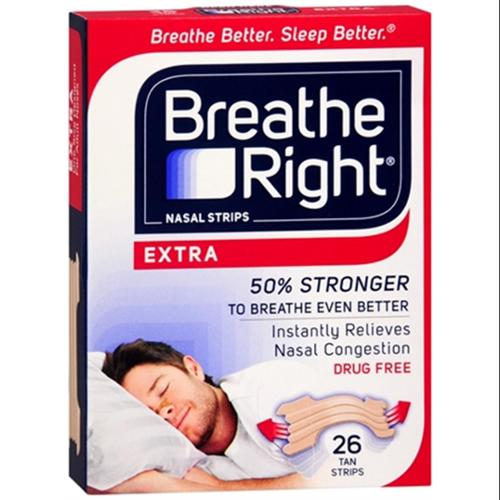 Breathe Right Nasal Strips Extra 26 Each (Pack of 6)