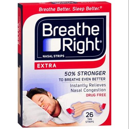 Breathe Right Nasal Strips Extra 26 Each  Pack Of 6