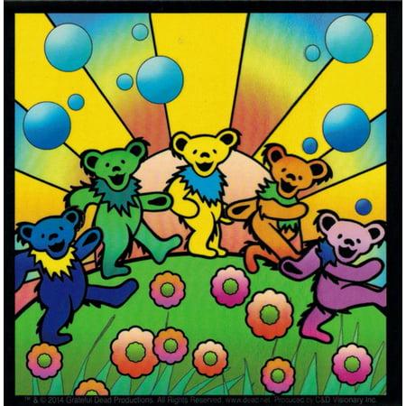 Grateful Dead Dancing Bears w/ Sunshine - Magnetic Bumper Sticker