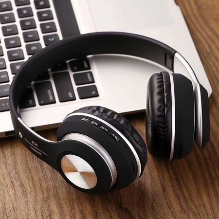 Wireless Bluetooth 4.2 Over-The-Ear Foldable Headphones Headset with Mic, for TV PC Computer Phone, with NFC, Wired