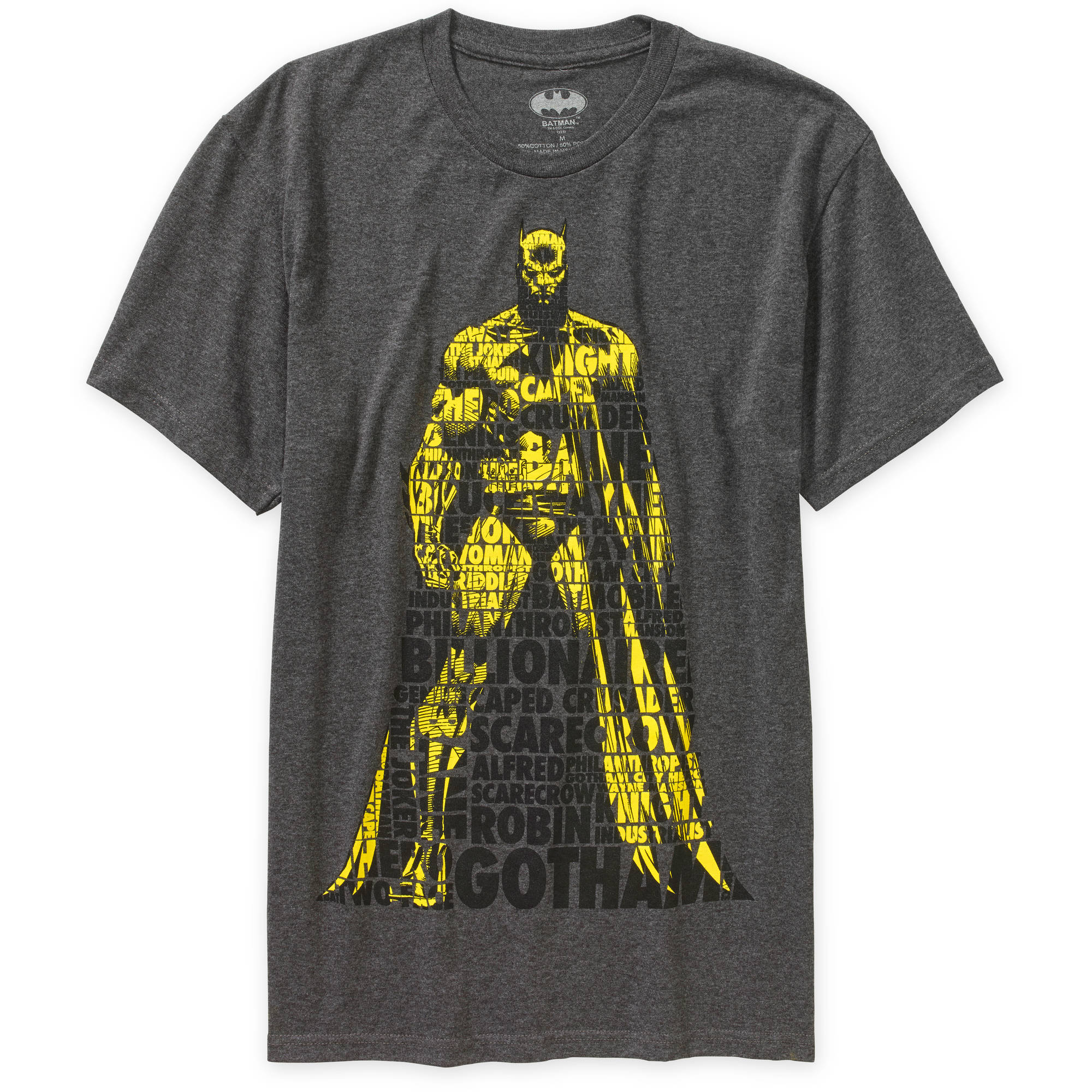 Batman verbiage fill pose Big Men's graphic tee
