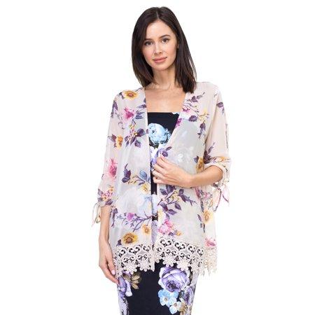 OFASHIONUSA Women's  Floral Lace Kimono Jacket](Kimono Child)