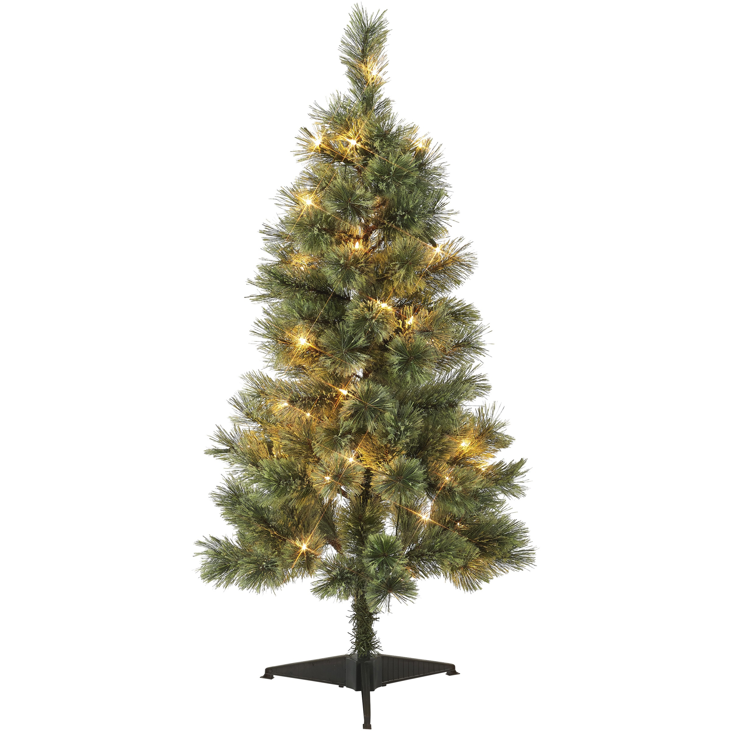 Holiday Time 4-Foot Pre-Lit Canadian Cashmere Tree, 50 Clear Incandescent Bulbs and 105 Tips