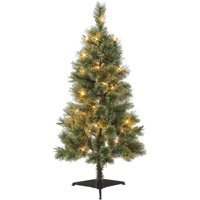 product image holiday time 4 foot pre lit canadian cashmere tree 50 clear incandescent bulbs