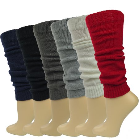 Debra Weitzner Women Leg Warmers Knitted Assorted Knee High Socks Winter 6 Pairs Knit Stretchy Leg Warmers