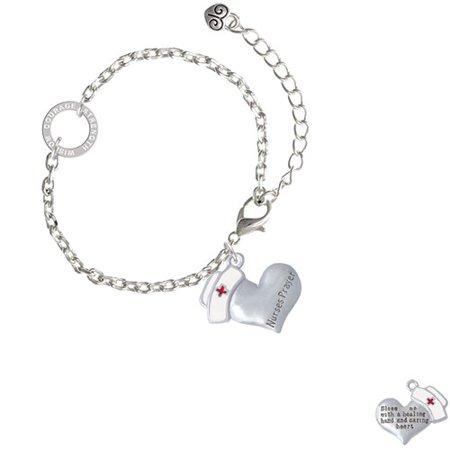 Nurse's Prayer Heart - Healing Hand - Courage Strength Wisdom Ring Zoe Bracelet