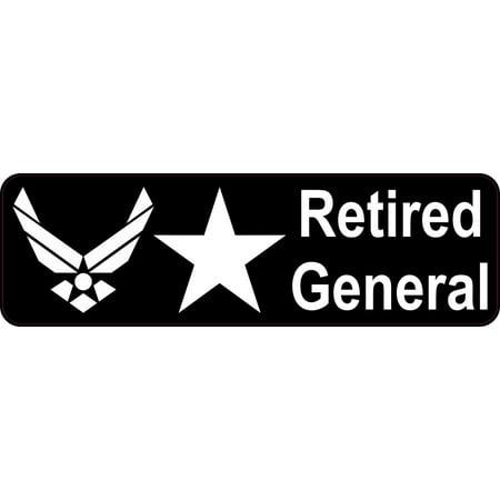 10x3 Air Force Brigadier Retired General Sticker Car Truck Vehicle Bumper