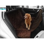 Pet Seat Cover Auto Back Rear Seat Barrier, Waterproof Dog Hammock Car Seat Cover with Protector Pad AntiSlip for Rear SUV Trucks Cars with Bench or Bucket Car Seat Extra Side Flaps by KritterWorld