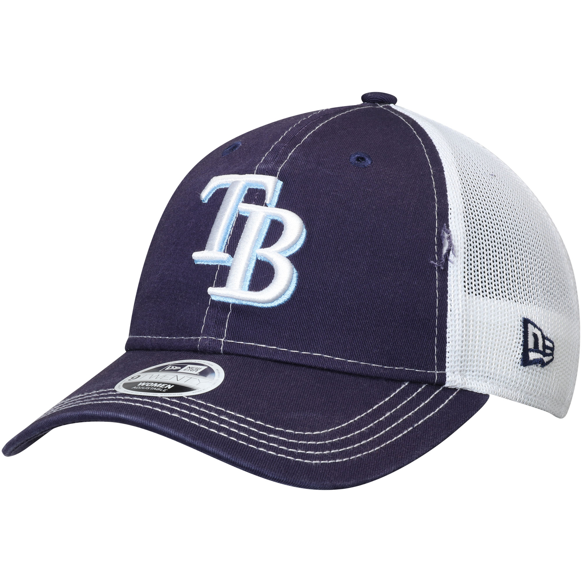 Tampa Bay Rays New Era Women's Spirited 9TWENTY Adjustable Hat - Navy - OSFA