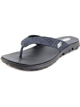 02d22fb93db2 Product Image Skechers On the GO FLow Women Open Toe Canvas Black Flip Flop  Sandal