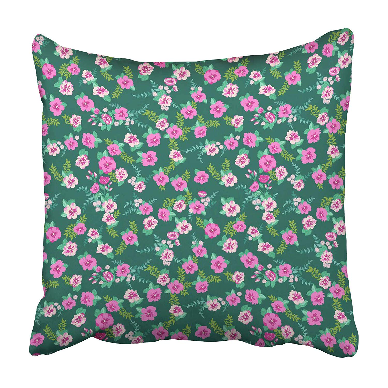 USART Ditsy in Small Cute Wild Flowers Delicate Bouquets Liberty Millefleurs Floral Pillowcase 20x20 inch