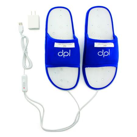 DPL Flex Deep Penetrating Light Therapy Pain Relief Slippers - Size Medium Dpl Deep Penetrating Light