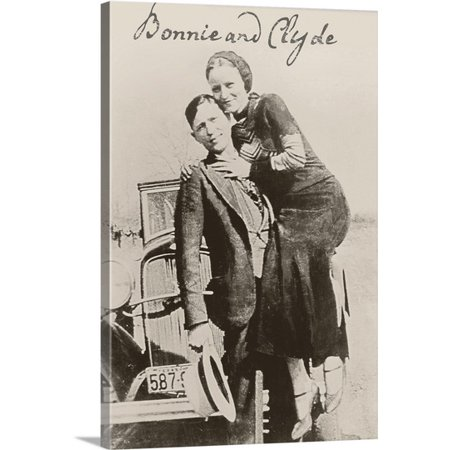 Great Big Canvas Vintage Apple Collection Premium Thick Wrap Canvas Entitled Bonnie And Clyde