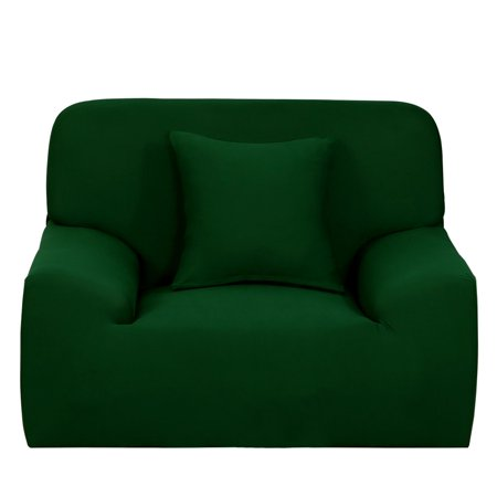 L-Shaped Stretch Sofa Covers Cover Sofa Slipcover Dark Green for 1 2 3  Seater