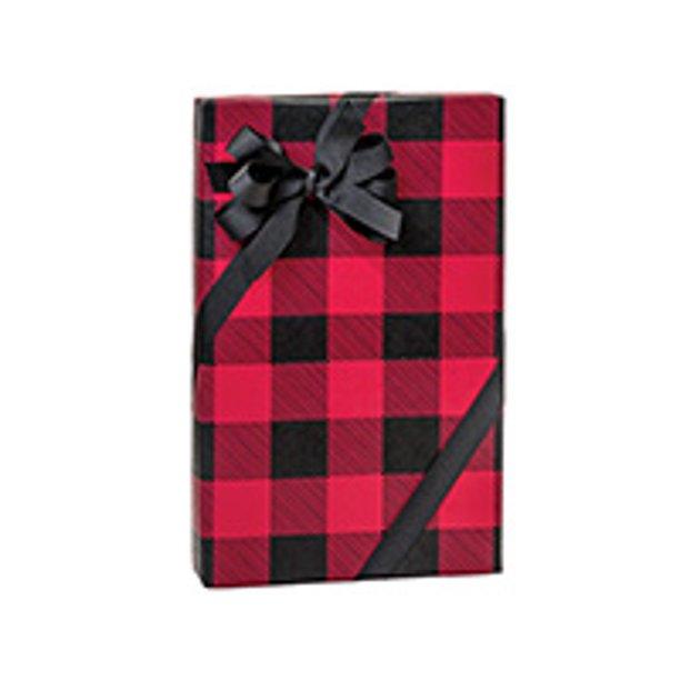 Red And Black Christmas Buffalo Plaid Holiday Christmas Gift Wrapping Paper 16ft Walmart Com Walmart Com