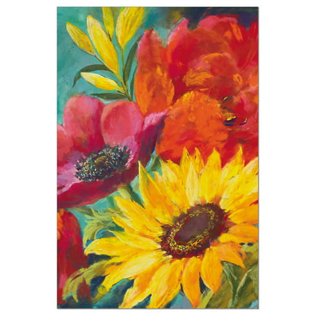 Tree-Free Greetings Vibrant Flowers on Blue Boxed ECO Notes Blank Note Cards-FS56714