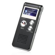 EEEkit 8GB Digital Voice Recorder with Volume Control, Black, X38