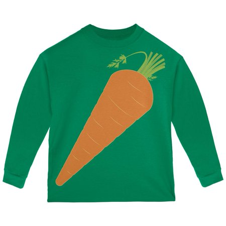 Halloween Vegetable Carrot Costume Toddler Long Sleeve T Shirt (Carrot Finger Food Halloween)