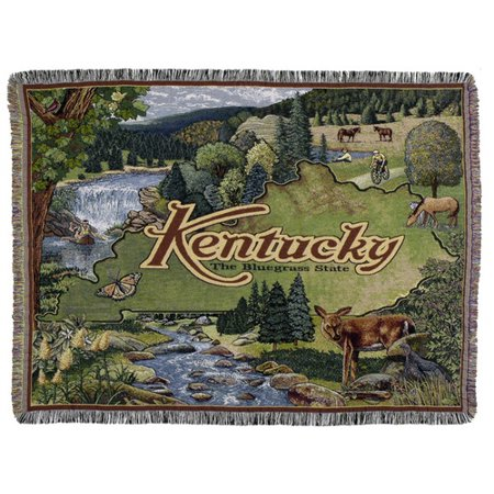 Tapestry Throw State of Kentucky Blanket ()